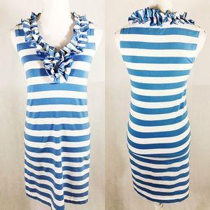 Kate Spade New York Striped Dress Cotton Ruffles
